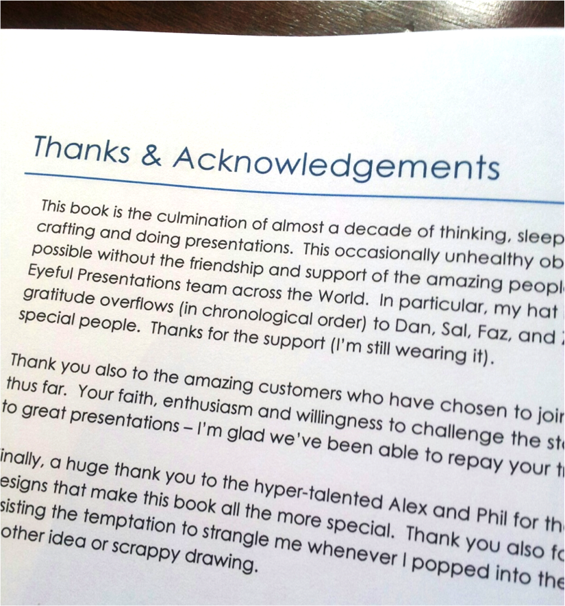 Thanks & Acknowledgements